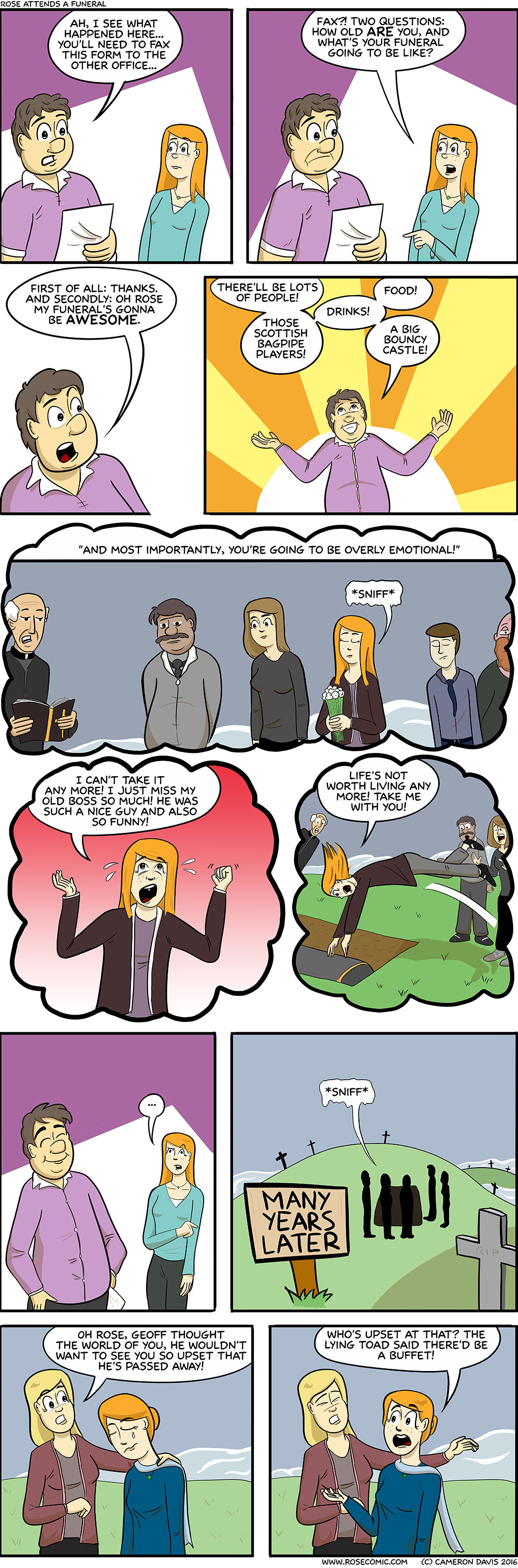 Rose Attends A Funeral